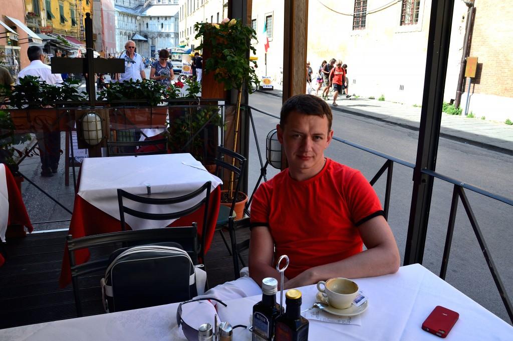 В кафе:)