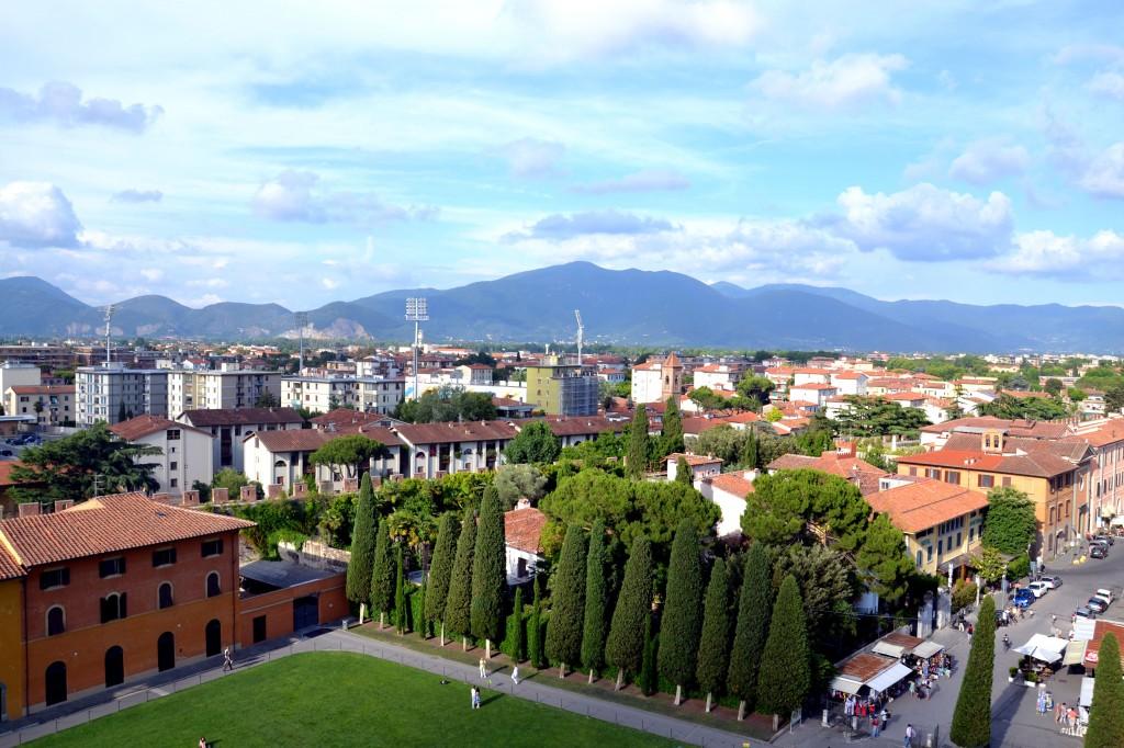 Вид на город с Пизанской башни